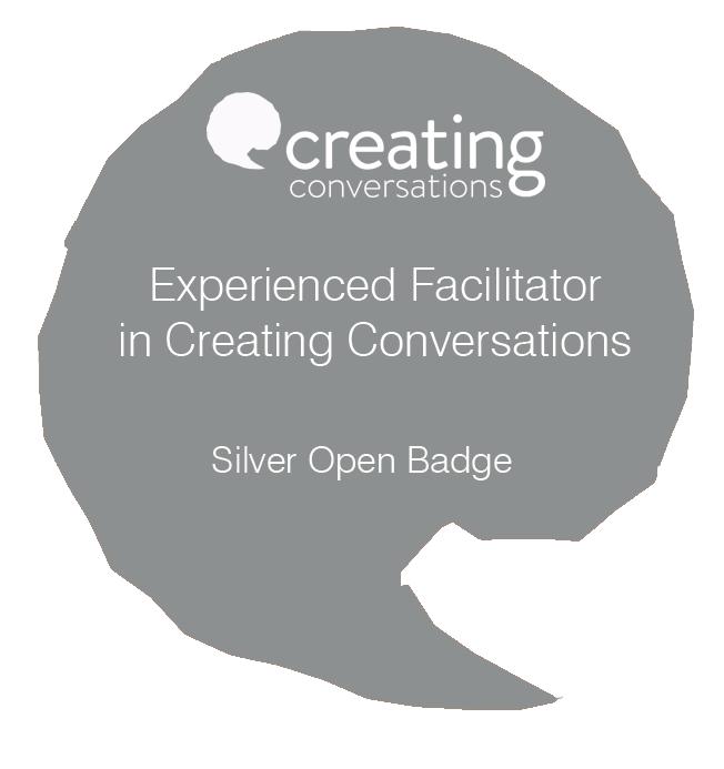 Creative Conversations Silver Award for Experienced Facilitators
