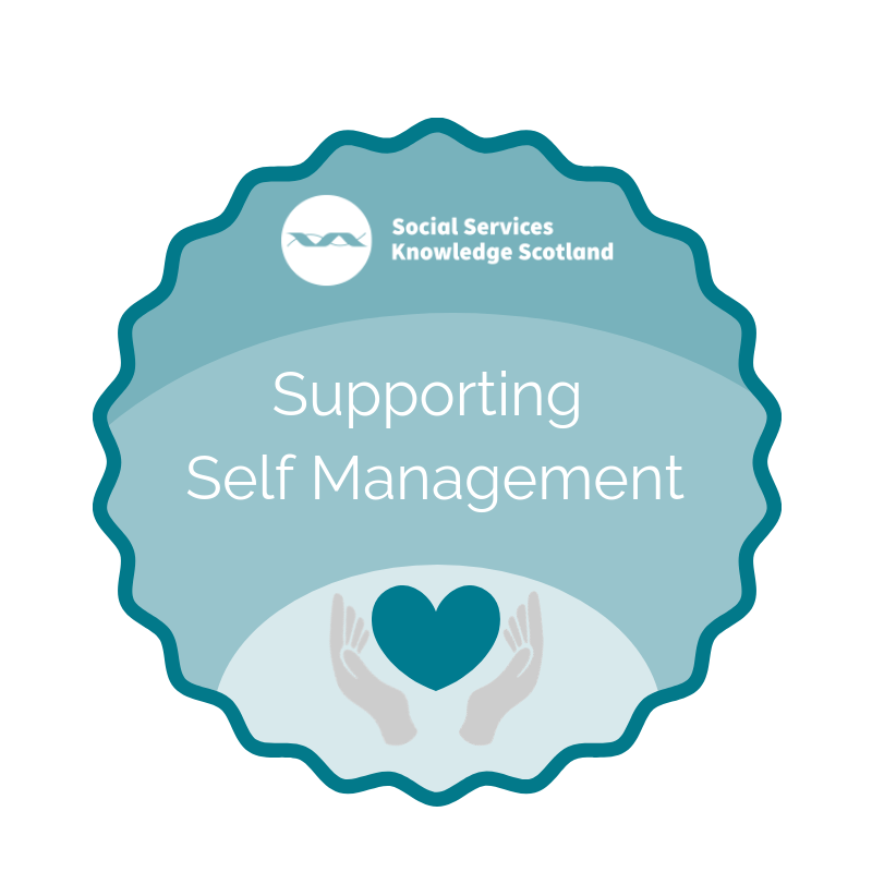 Supporting Self Management badge